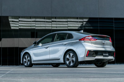 2017 Hyundai Ioniq left rear profile