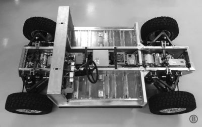 Bollinger electric truck chassis.