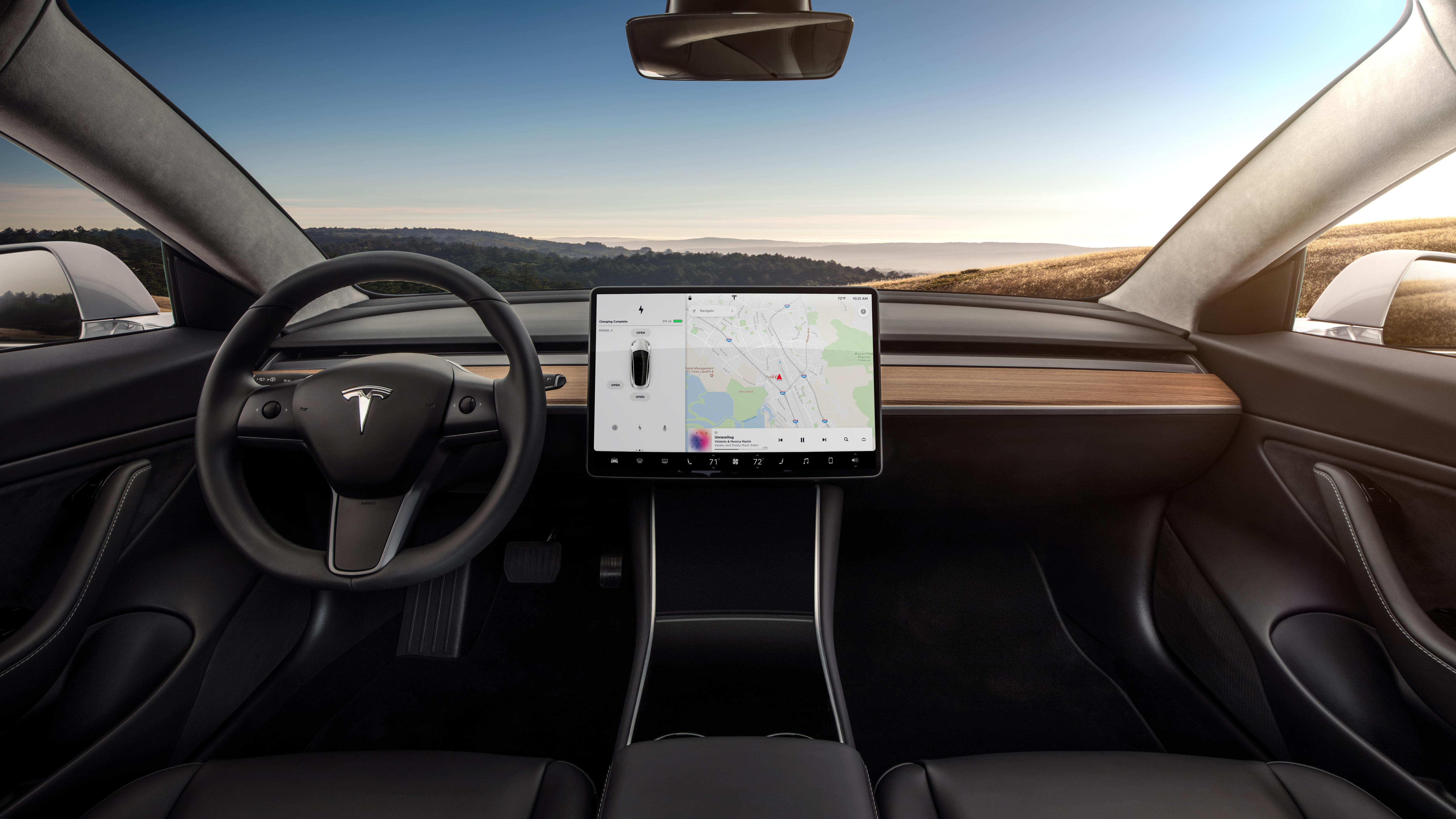 What Is A Fuel Cell >> Tesla Model 3 Interior Dash- Head On - The Green Car Guy