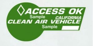 California's green HOV lane sticker