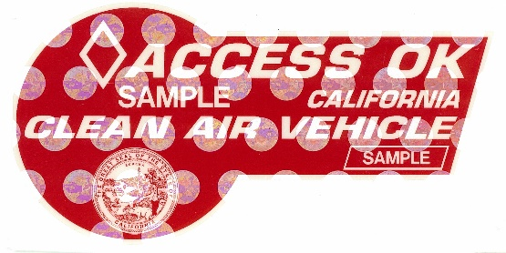 California Clean Air Decal