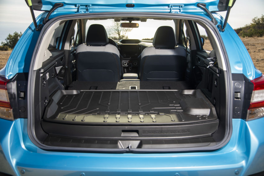 The 8 Kwh Battery Pack Takes Up Some Of Crosstrek Hybrid S Cargo E And There A Drop Off In Middle Floor When Rear Seats