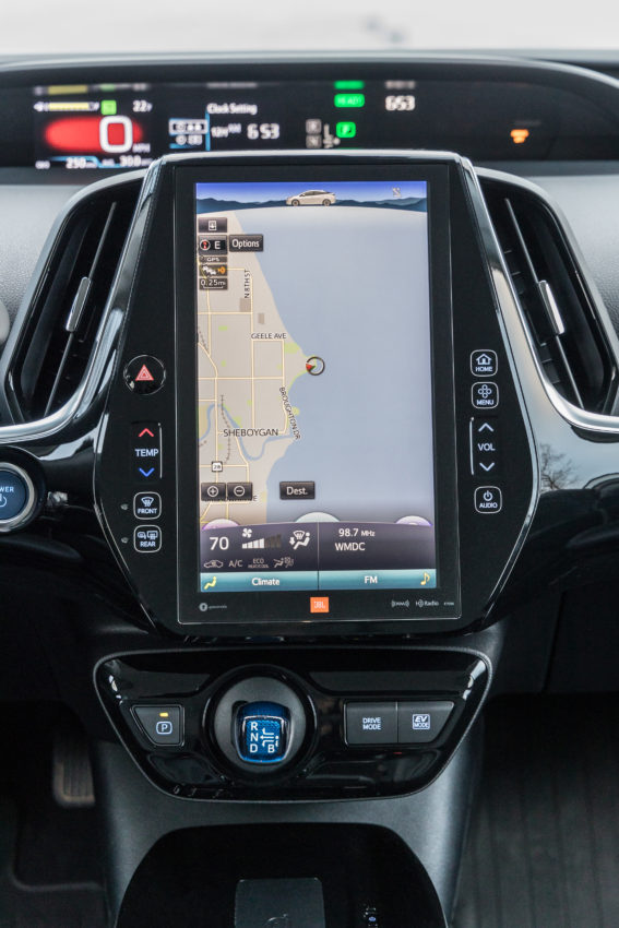 2019 Prius Limited's 11.6-inch touchscreen.