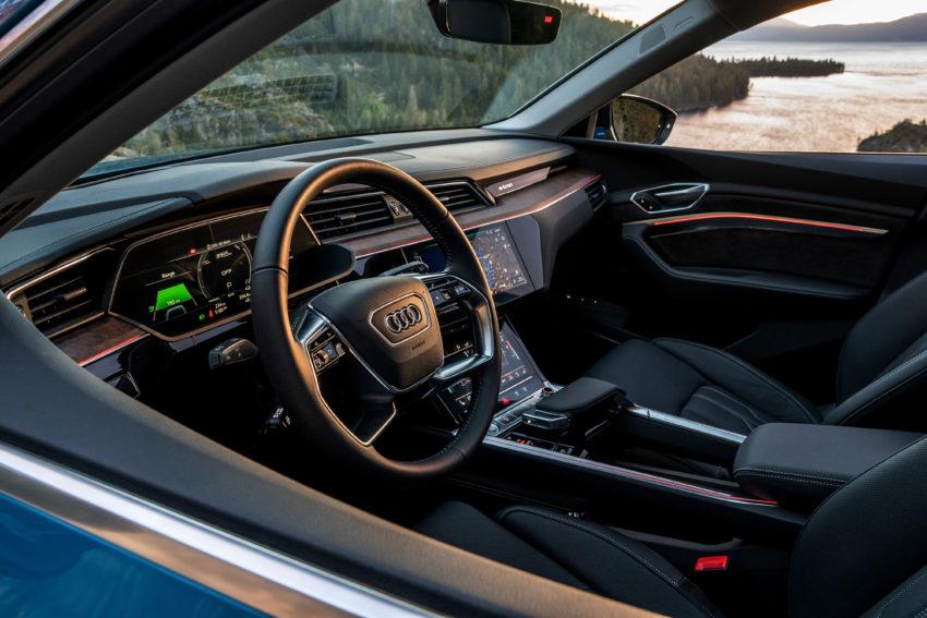 Audi e-Tron front interior