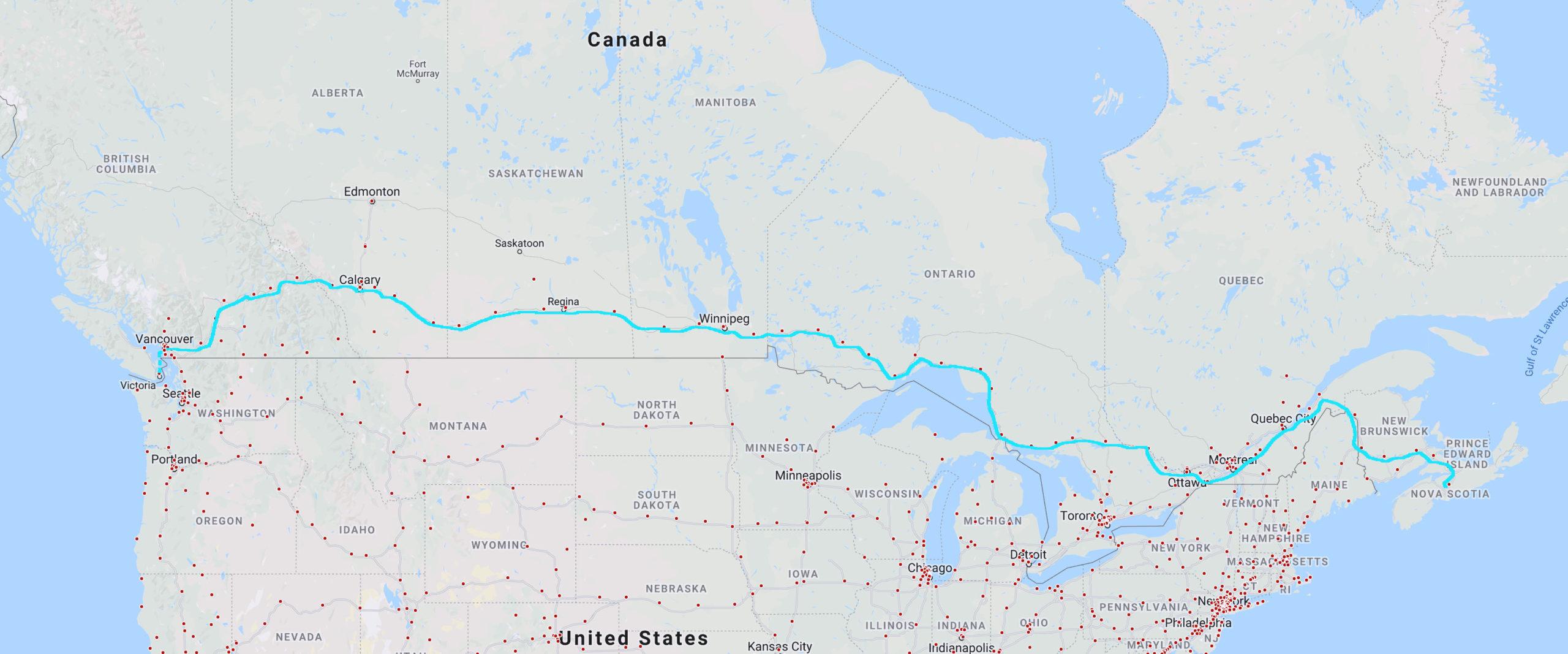 Tesla Trans Canada