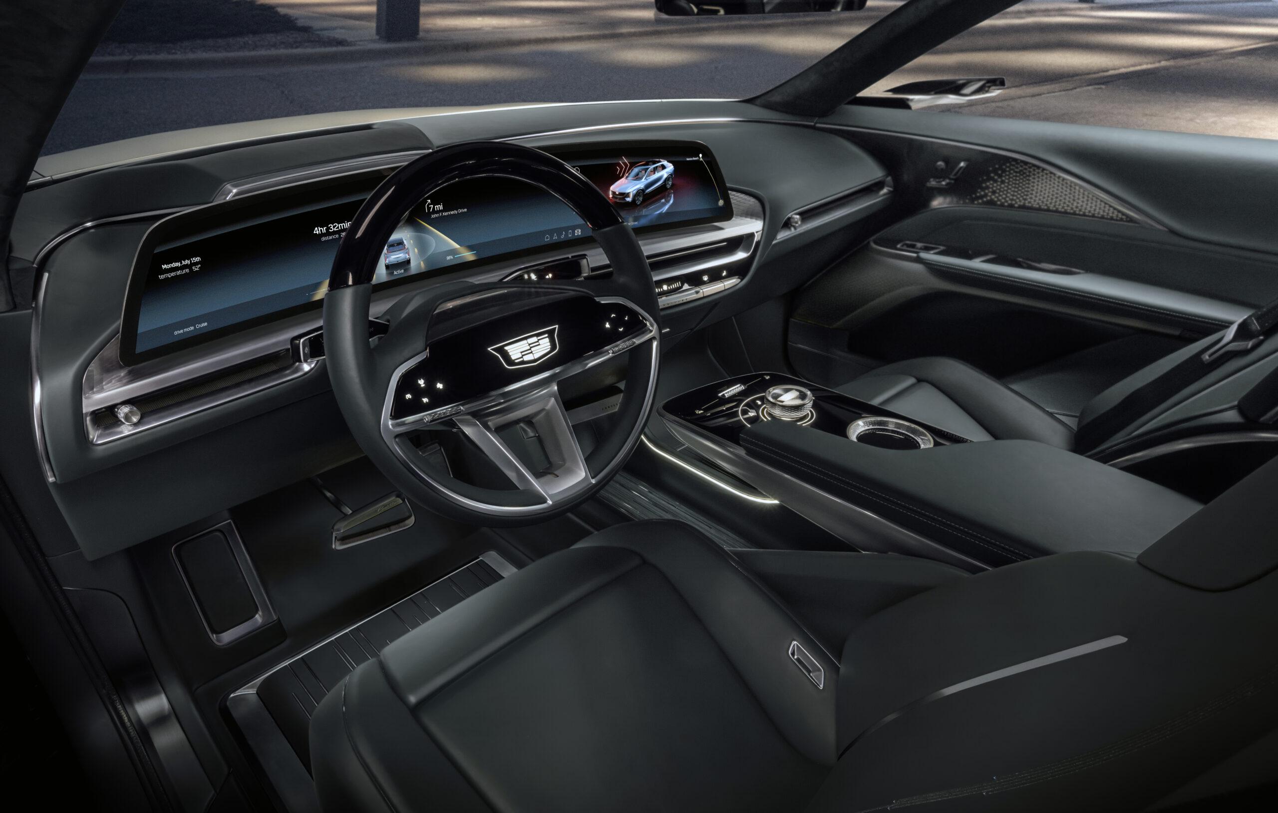 Cadillac Lyriq front interior