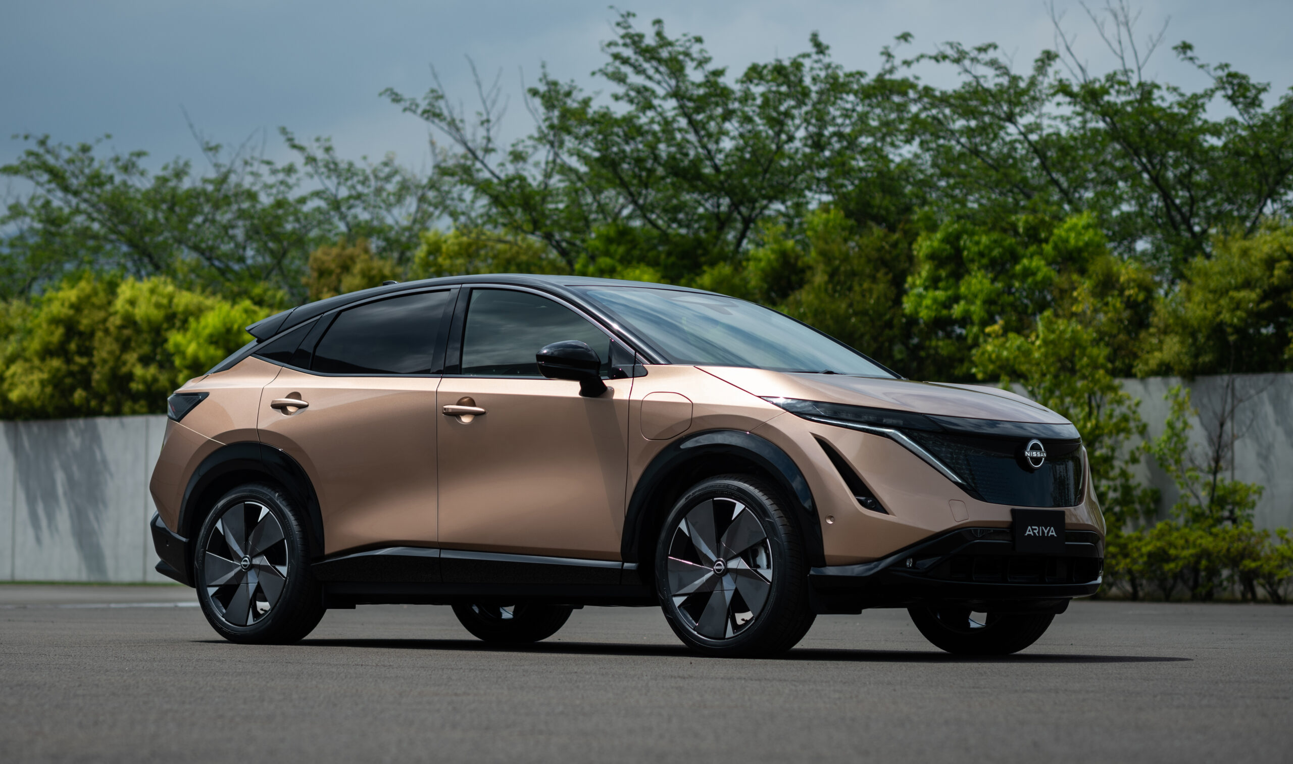 Nissan Ariya in profile.