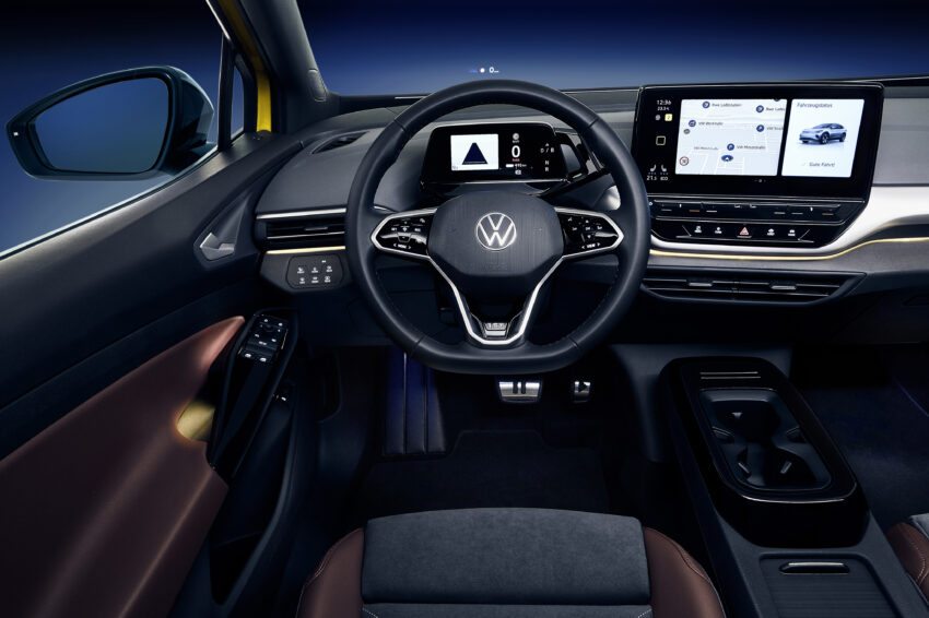 VW ID.4 has driver-oriented instruments.