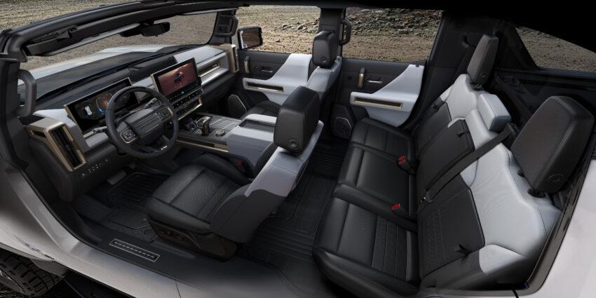 2022 Hummer EV interior.