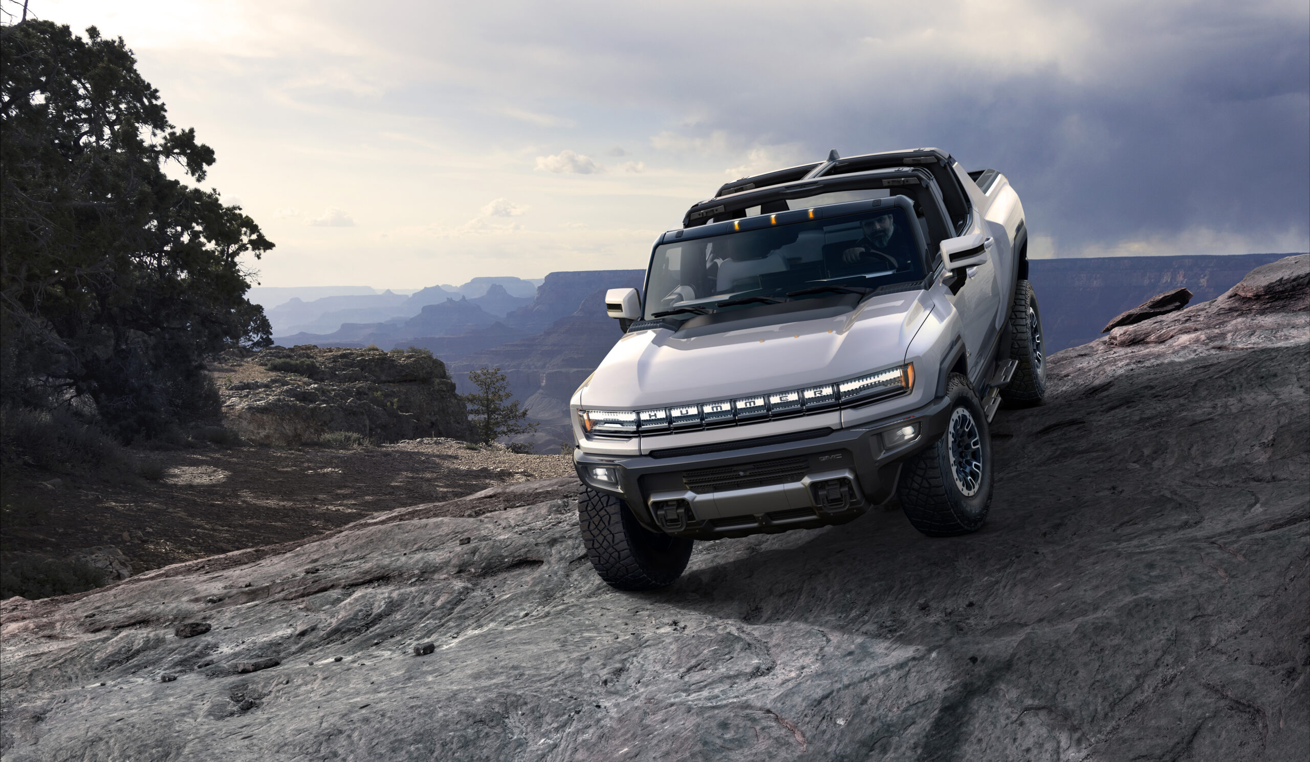 """2022 Humer EV in """"topless"""" mode."""