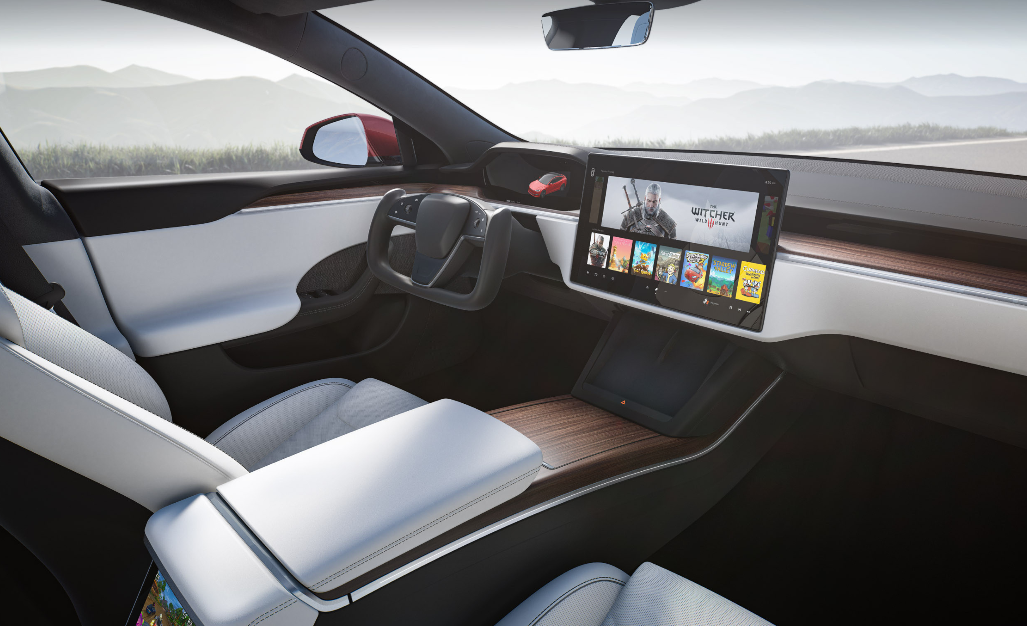 Tesla interiors are new for '21 Model S and Model X.