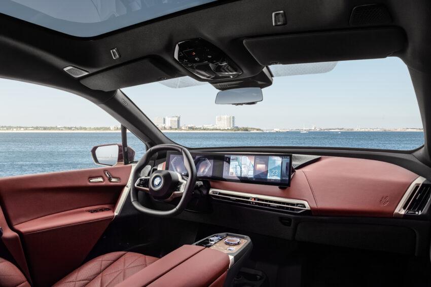 BMW iX interior.